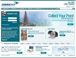 Garuda Airlines Online Shop by theideafield