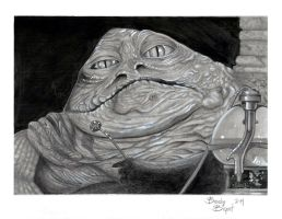 Jabba the Hutt by greyfoxdie85