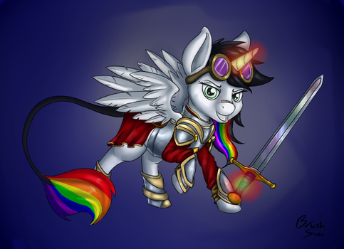 LIghtning Bliss: Warrior Within by Pony-Brush-Stroke