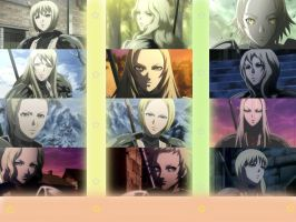 Characters Of Claymore by Agancante