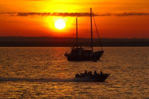 Boats at sunrise - Darwin by wildplaces
