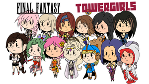 Final Fantasy Towergirls by Sephiroth7734