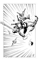 Deadpool vs Spiderman inks by VASS-comics