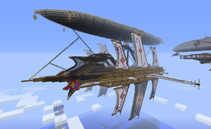 My giant airship (backside view) by CW390