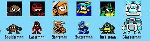 Megaman Cataclysm Robot Masters Lineup by Night-ShadeX