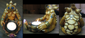 Darunia Tea Light Holder by DancingVulture