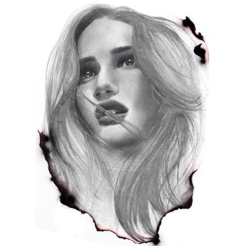 drawing Rosie Huntington sketch by Aeriz85