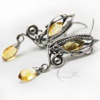 YRTUQ - silver and citrine by LUNARIEEN