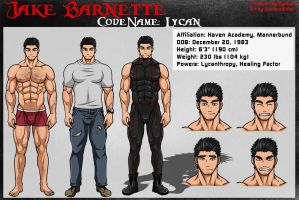 Character Sheet : Jake Barnette by CrimsonBlood-Z