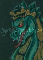 Bali Style Dragon ACEO by The-GoblinQueen