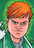 Sketchcard Guy Gardner by RichBernatovech