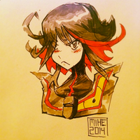 Kill La Kill Sketch by Mikuloctopus
