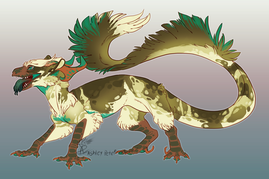 Emerald Painted Landwyrm by Mantiscat