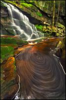Swirly Falls by joerossbach
