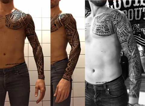 Full sleeve tattooed by shepush