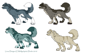 Wolf Hybrid Adopts: CLOSED by Dunkin-Prime
