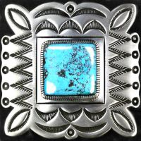 Amerindian Navajo Decal Badge with Turquoise by LilipilySpirit