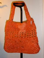Orange Plarn Bag by DigitalParanoia