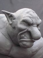 Troll bust by Blairsculpture