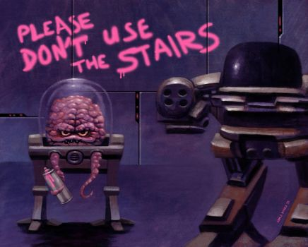 Please Don't Use the Stairs - Ft. Krang and ED209 by SamJRoyale