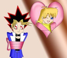 2nd Prize : Yugi and Rebecca by Sincity2100