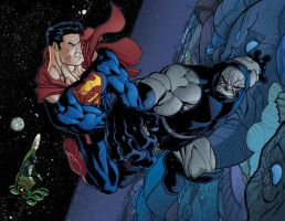 superman and darksied by EdMcGuinness