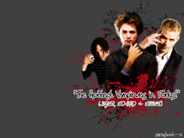 The Hottest Vamps... Wallpaper by parashoot--x