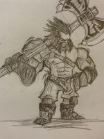 Fan Art - Axe (Dota 2) by rajal-tikana