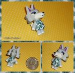Animal Crossing - Fang the Wolf Charm - ACNL by YellerCrakka