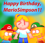 Gift: Happy Birthday, MarioSimpson1 by Nintooner