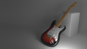 Sunburst Fender Strat by Kryscot