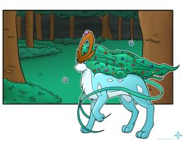 Suicune- Guardian of the Woods by Angel-soma
