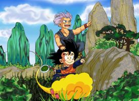 Goten and Trunks by Oolong-sama