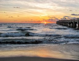 Lake Worth Pier Sunrise by JosephJacksonPhotog