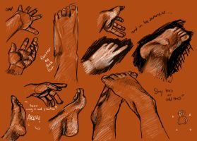 Hands and Feet by Amai-Rose