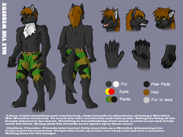 Max The Werefox Reference 2015 by Maxthewicked100