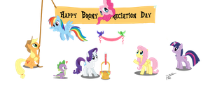 Brony Appreciation Day no bg by RatofDrawn