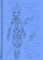 Scissorbeth hands Monster high OC by moonfeather