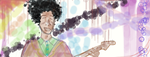 Just a random drawing of Jimi Hendrix by NathanTheWizard