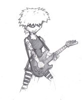 Awesome Guitar Chick by Migarcia