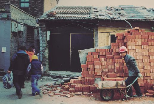 Working in the Hutong II by ornie