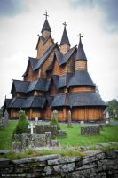 Heddal Stave church by Evilien