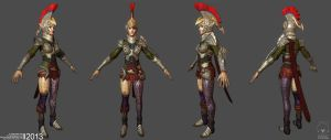Roman Archer (Game Art) - Character Sheet Wires by Rhythem02