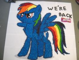 WE ARE BACK Rainbow Dash by Grudgeholder