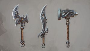 Unholy weapons by Sephcas