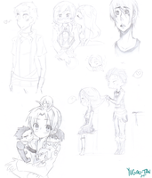 Pencil Sketch Dump Thinggg by frickle-frackle