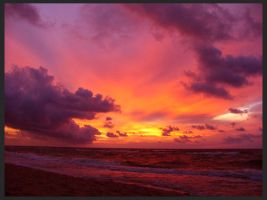 sunset and the Baltic Sea 14 by Eikka