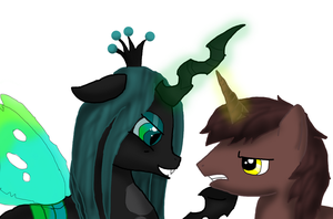 queen Chrysalis Vs Courageous Heart by xxXBloodroseXx