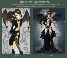 Draw This Again! Meme - Black Rose by MariaDiAvvenire
