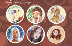Badges Japan Expo 2011 by Alice-Bobbaji